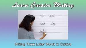 Three Letter Words Writing 3 Letter Words In Cursive Abc Phonics