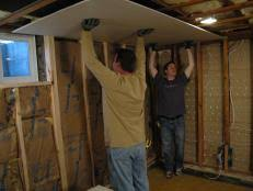 Hanging Drywall On Ceiling Trusses by How To Drywall A Ceiling How Tos Diy