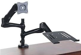 desk steel desk mount dual monitor arm vesa arm lcd desk mount