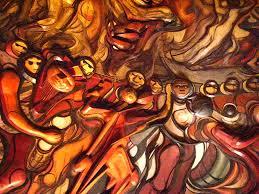 siqueiros detalle del mural de david alfaro siqueiros la flickr
