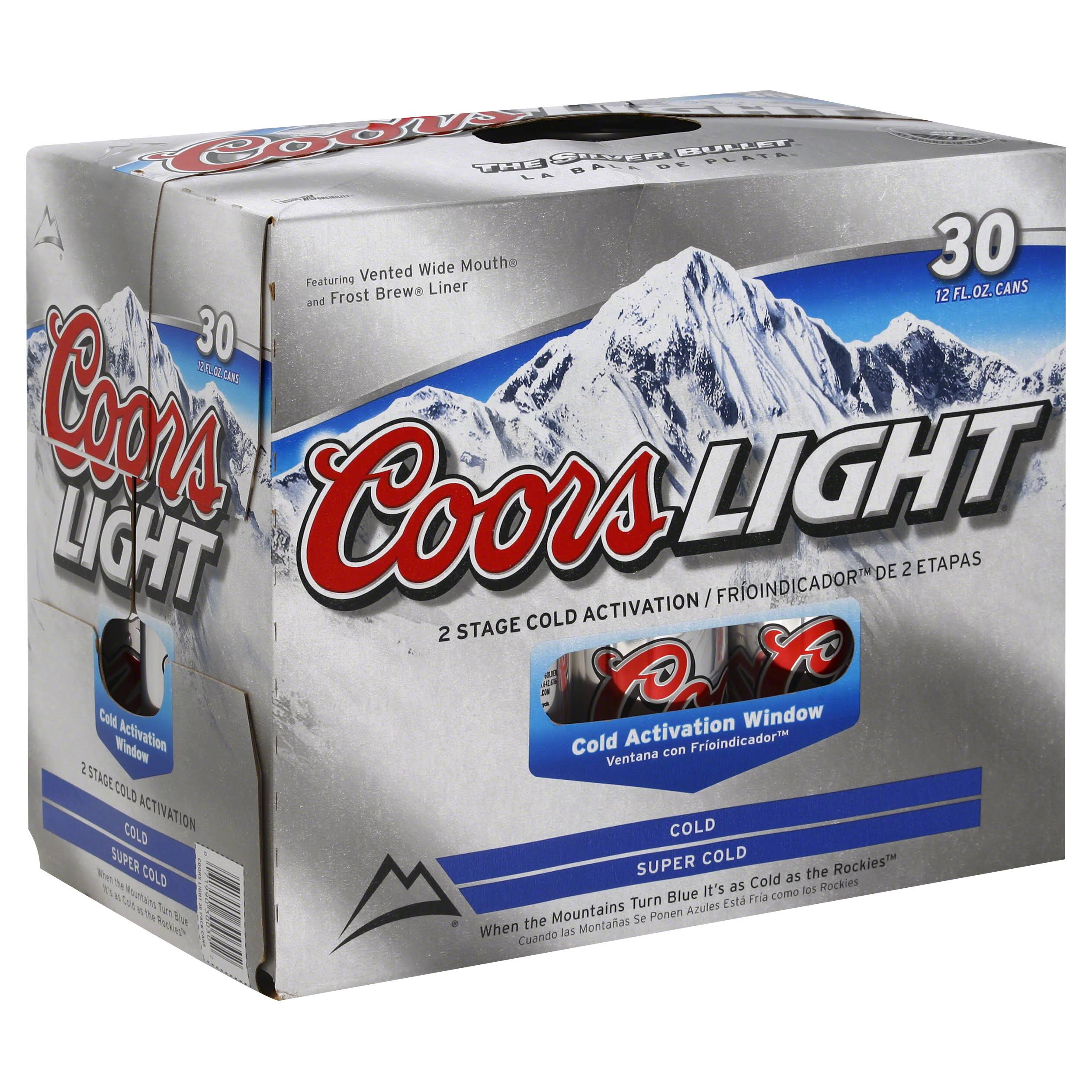 Coors Light Beer - 30 Cans
