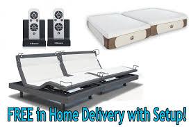 Adjustable Bed Base Split King by 12 Inch Coolbreeze Gel Memory Foam Mattress With Reverie 8q