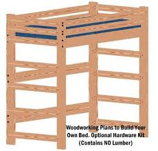 Loft Bed Woodworking Plans by Amazon Com Loft Or Bunk Bed Diy Woodworking Plan Tall Extra Long