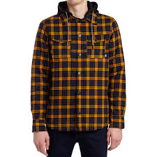 insulated flannel shirt gold navy