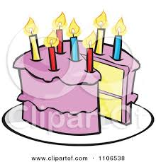 Pink Birthday Cake With A Candle And Missing Piece