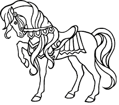 Horse Show Coloring Page