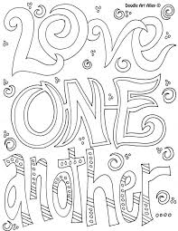 Love One Another Coloring Page AZ Pages