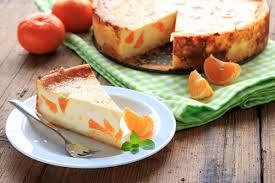 schmandkuchen mit mandarinen und vanillepudding