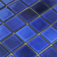 mosaikfliesen keramikspiegel blau uni