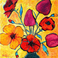 Flowers Of Love Painting By Ana Maria Edulescu