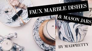 DIY FAUX MARBLE DISHES AND MASON JARS