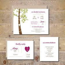 Tree Wedding Invitations Country Invites Rustic Oak Summer