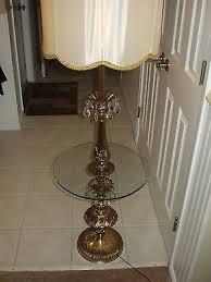 Stiffel Floor Lamp Vintage by Vintage Stiffel Hollywood Regency Brass Glass Table Floor Lamp