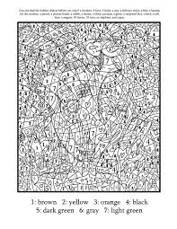 Online Advanced Color By Number Coloring Pages