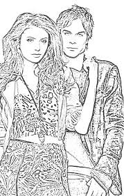 Vampire Colouring Pages For Adults 14 Images Of Diaries Coloring Book
