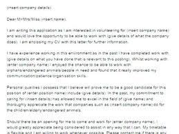 Sample Cover Letter For Volunteer Work Volunteering 6 Job Application