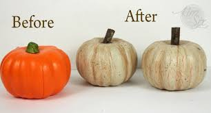 Carvable Foam Pumpkins Ideas by Distressed Dollar Store Pumpkins With A Crackle Finish The Kim
