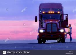 100 Class A Truck Driver Silhouette Of A Truck Driver Getting Into The Cab Of His