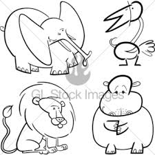 African Animals Set For Coloring