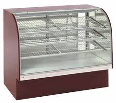 Tilt Out Curved Front High Volume Non Refrigerated Food Display Case