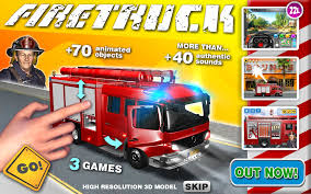 Amazon.com: Kids Vehicles 1: Interactive Fire Truck - Animated 3D ...