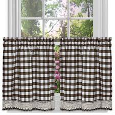 Jcpenney Kitchen Curtains Valances by Buffalo Check Rod Pocket Kitchen Curtains Jcpenney