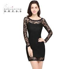 online get cheap long sleeve short lace prom dresses aliexpress