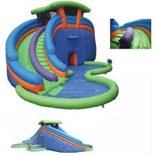 Inflatable Water Slide Park Pool Lazy River Kids Image