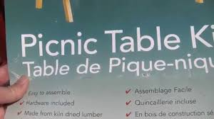 diy build your own picnic table kit form part 1 youtube