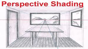 One Point Perspective Room Worksheet Kitchen View How To Draw In Drawing Examples Of Drawings From