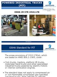 Powered Industrial Trucks | Forklift | Transport Forklift Top 6 Common Osha Compliance Pitfalls For Powered Sample Generic Checklist Industrial Trucks Youtube Gensafetysvicespoweredindustrialtruck The Safety Drumbeat Ignored As Often Its Heard University Operator Traing Osha Forklift Fact Sheet Elegant Etool Associated Regulations Required Power Truck Features Continue To Evolve Ehs Pit Pp T