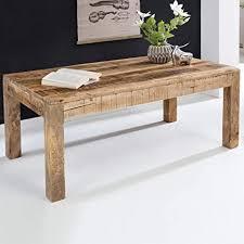finebuy couchtisch rusti 110 x 60 x 47 cm rechteckig mangoholz natur hell braun massivholz stubentisch landhaus stil echtholz tisch wohnzimmer