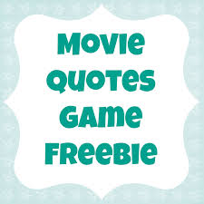 Bridal Shower Qoutes by Movie Quotes Game Freebie For A Bridal Shower