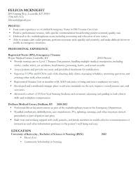 Free Nursing Resume Samples Together With Experienced