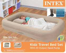 intex kids travel twin air mattress and hand pump