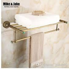großhandel ganze messing antik bad handtuchhalter badezimmer handtuch regal badezimmer handtuchhalter antik doppel regal 50 gandolfi 132 56 auf