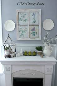 And Table Settings Mantel Ating Ideas Ate A Simple Pop Easter Spring Home Decor Mantle Jpg