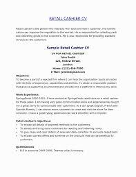 Supermarket Cashier Resume Valid Sample For Store Clerk Awesome Stock Job Description