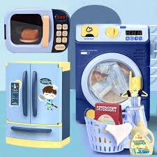 kinder spielen haus küche doppel tür spray kühlschrank waschmaschine elektrische kleine geräte esszimmer küche spielzeug