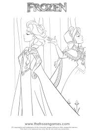 Elsa And Anna Disagreement Coloring Page Frozen Games