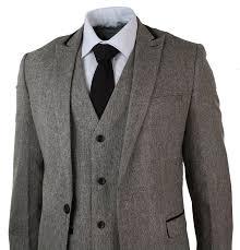 Amazon Marc Darcy Mens Herringbone Tweed 3 Piece Suit Velvet Trim Vintage Slim Brown Clothing