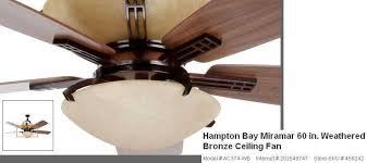 Hampton Bay Ceiling Fan Glass Cover by Hampton Bay Ceiling Fan Replacement Glass 2767