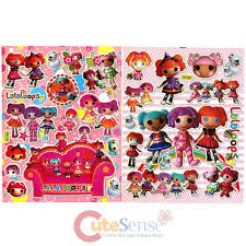 Lalaloopsy Bed Set by Lalaloopsy Friends Stickers Set 2 Sheets Removable Wall Window