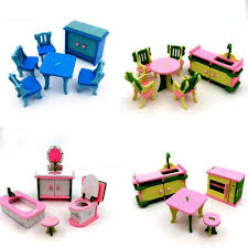 Dolls House Dining Furniture Kitchen Toilet Table Sofa Chairs ...