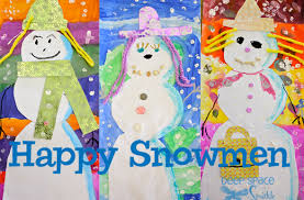 Collage Snowman Art Project