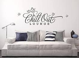grandora w817 wandtattoo spruch chill out lounge wohnzimmer schlafzimmer haselnussbraun 163 x 56 cm