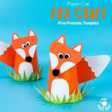 Cute Paper Cup Fox Craft For Kids
