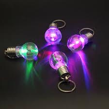 mini color changing led flashlight light bulb l key ring