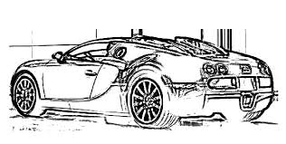 Bugatti Car Veyron Electronic Colouring Page