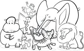 Coloring Book Pages Zoo Animals Page Free Adult Sheet Cake Printable